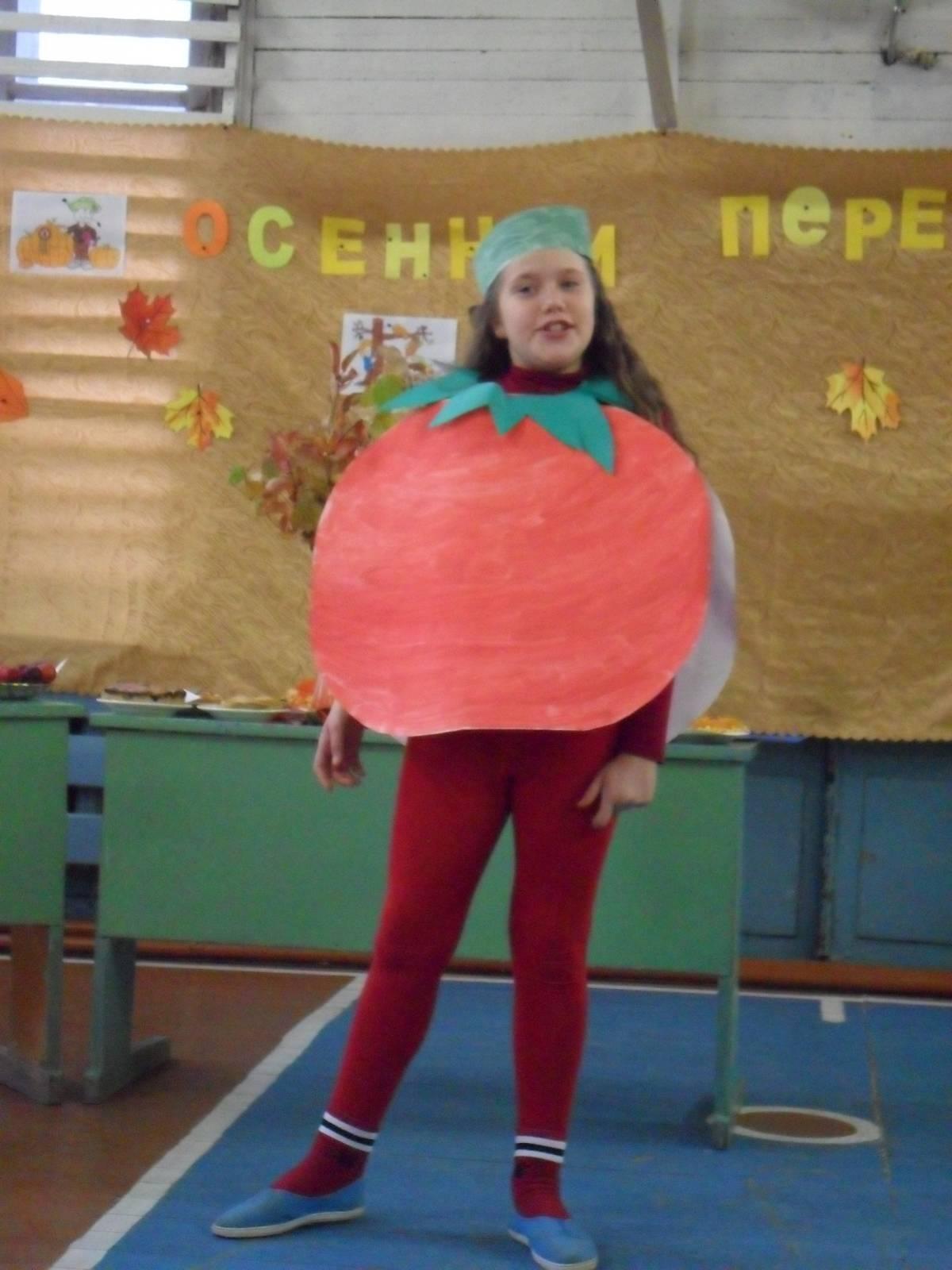 Костюм помидора из картона 97